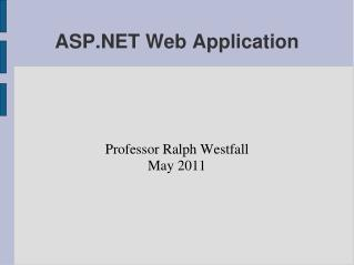 ASP.NET Web Application