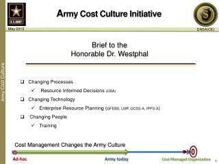 A rmy Cost Culture Initiative