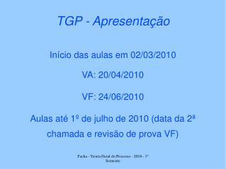 TGP - Apresentação