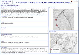 Concept-Regelscenario,  situatie 2B: afritten A4R Den Haag-zuid (Harnaschknoop) / den Hoorn