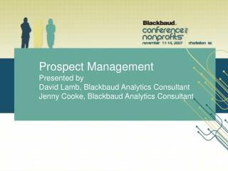 Prospect Management Defined