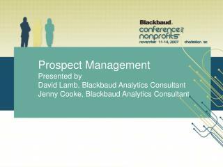 Prospect Management Defined