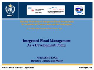 WMO: Climate and Water Department