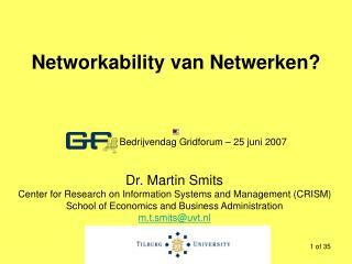 Networkability van Netwerken?