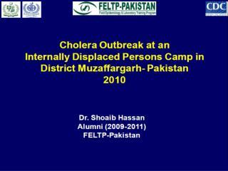 Cholera; a Public Health concern