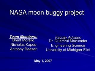 NASA moon buggy project