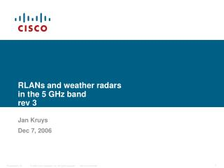 RLANs and weather radars  in the 5 GHz band rev 3