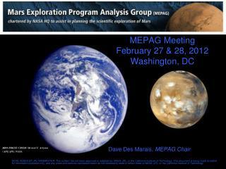 MEPAG Meeting February 27 & 28, 2012 Washington, DC