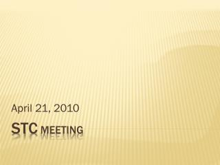 STC  Meeting