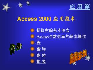 Access 2000  应用技术