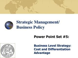 Strategic Management/ Business Policy
