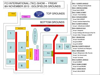 FCI INTERNATIONAL (TKC) SHOW –  FRIDAY 8th NOVEMBER 2013 : GOLDFIELDS GROUNDS