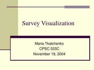 Survey Visualization