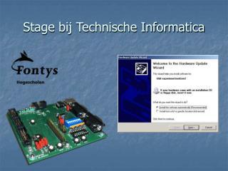 Stage bij Technische Informatica