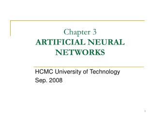 Chapter 3  ARTIFICIAL NEURAL NETWORKS