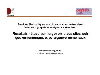 Jean-Yves Fiset, ing., Ph. D. Systèmes Humains-Machines Inc.