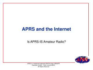 APRS and the Internet