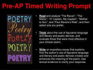 Pre-AP Timed Writing Prompt