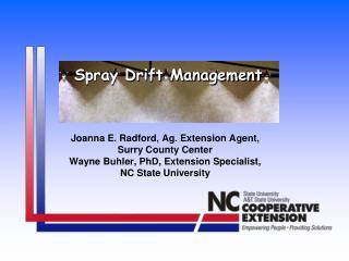 Spray Drift Management