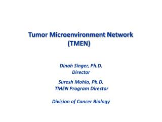 Tumor Microenvironment Network (TMEN)