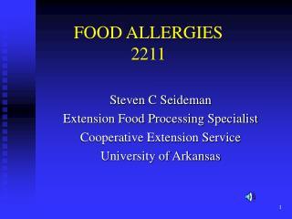 FOOD ALLERGIES 2211