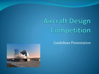 Aircraft Design Competition