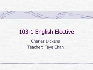 10 3 - 1 English Elective
