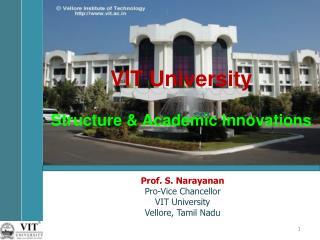 VIT University Structure & Academic Innovations