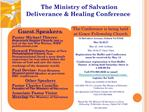 The Ministry of Salvation  Deliverance  Healing Conference