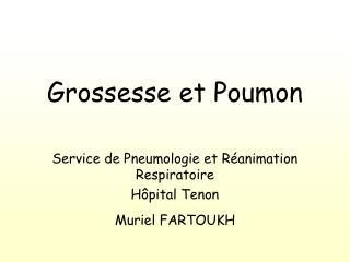 Grossesse et Poumon