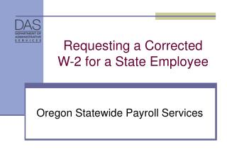 Requesting a Corrected W-2 for a State Employee