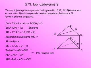 273. lpp uzdevums 9