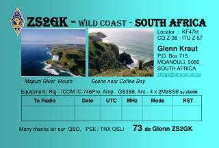 Zs2gk - Wild coast  -  south africa