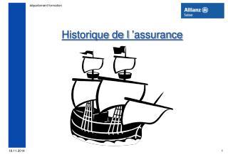 Historique de l'assurance