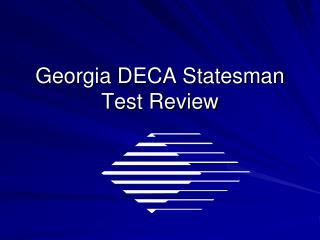 Georgia DECA Statesman Test Review