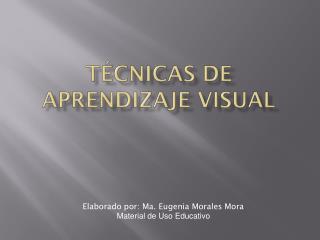 Técnicas de Aprendizaje Visual