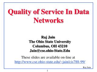 Quality of Service In Data Networks