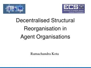 Decentralised Structural Reorganisation in  Agent Organisations