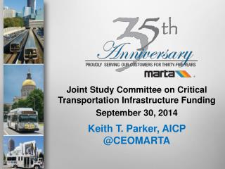 Joint Study Committee on Critical Transportation Infrastructure Funding   September 30, 2014