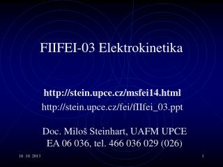 F II F EI -0 3 Elektro kinetika