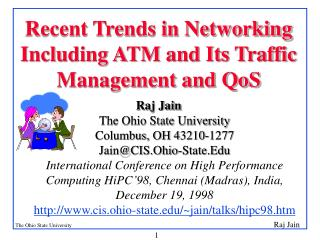 Recent Trends in Networking Including ATM and Its Traffic Management and QoS