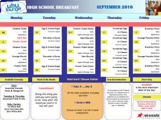 HIGH SCHOOL BREAKFAST
