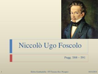 Niccolò Ugo Foscolo