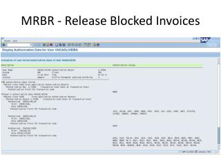 MRBR - Release Blocked Invoices