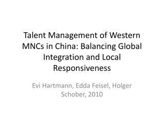 Evi  Hartmann,  Edda Feisel ,  Holger Schober , 2010