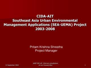 Pritam Krishna Shrestha Project Manager