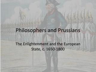 Philosophers and Prussians