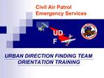 Civil Air Patrol  Emergency Services
