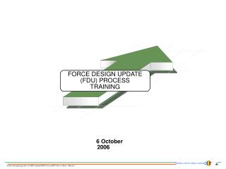 FORCE DESIGN UPDATE (FDU) PROCESS TRAINING