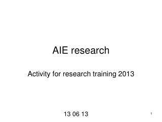 AIE research